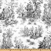 Premier Prints Colonial Toile Black/Ivory