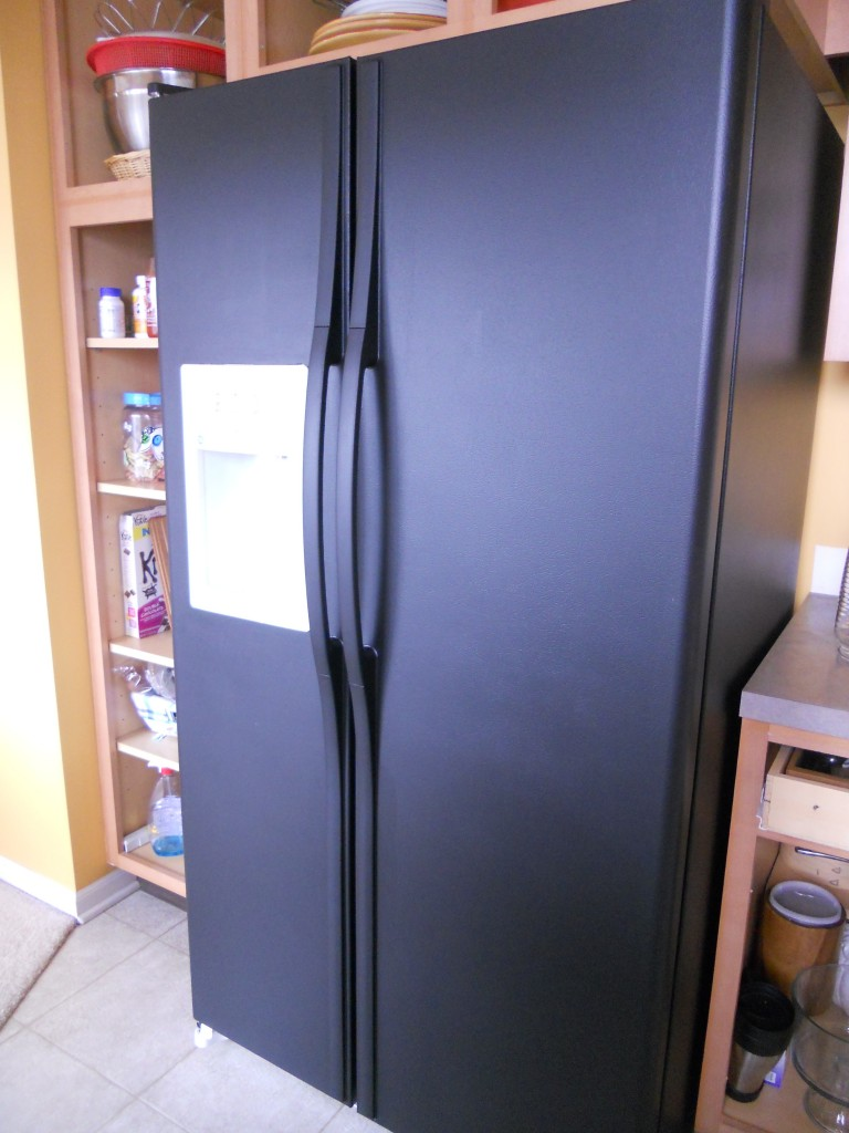 painting a refrigerator suna 39 s house. Black Bedroom Furniture Sets. Home Design Ideas
