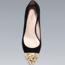 COURT SHOE WITH STUDDED CAP TOE by ZARA