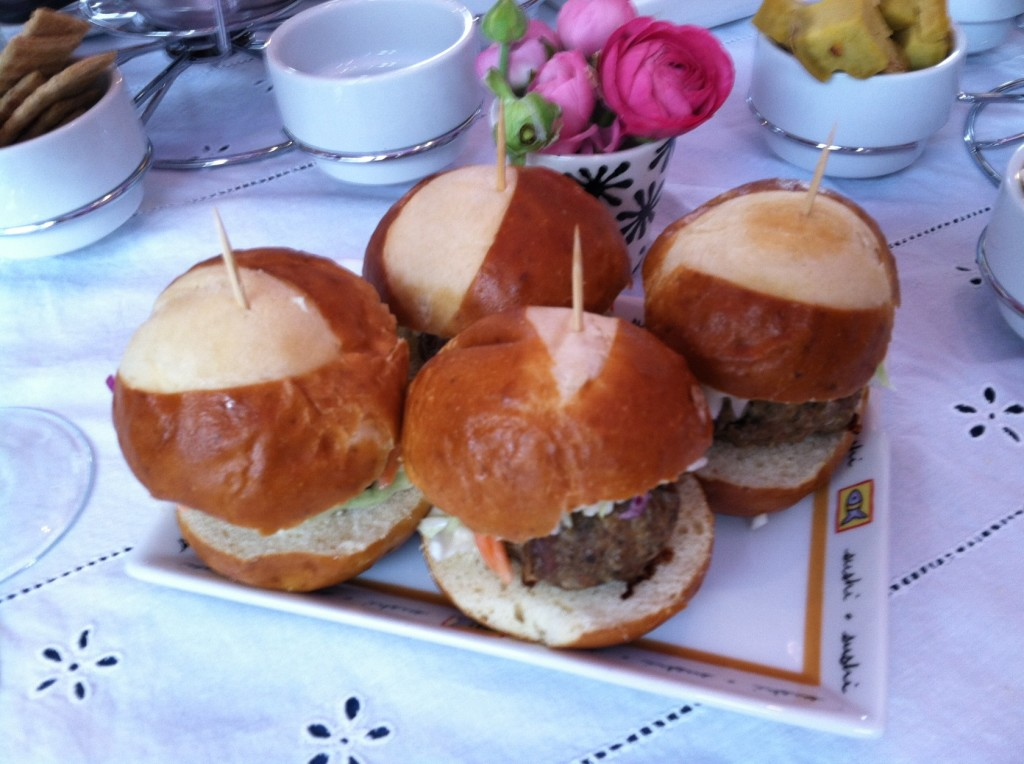 The handmade meatball/coleslaw sliders.