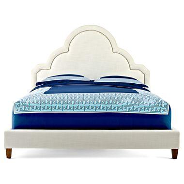 Linen upholstered headboard